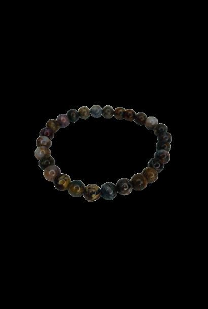 Tumbled Stone Bracelet | Petersite | 7mm