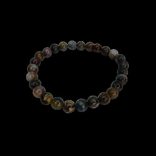 Tumbled Stone Bracelet | Petersite | 7mm-1