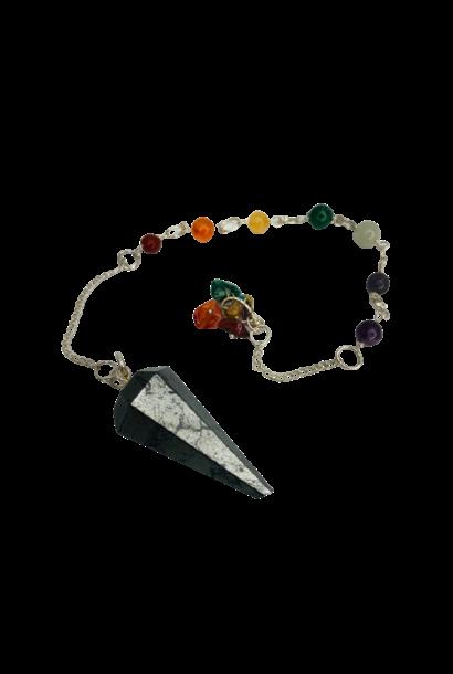 Pendulum | Hematite with Chakra Stone Chain