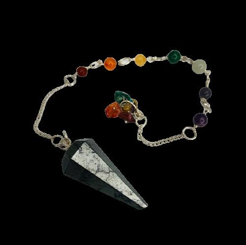 Pendulum | Hematite with Chakra Stone Chain-1