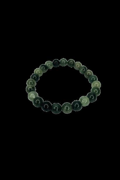 Tumbled Stone Bracelet | Green Rutile | 8mm