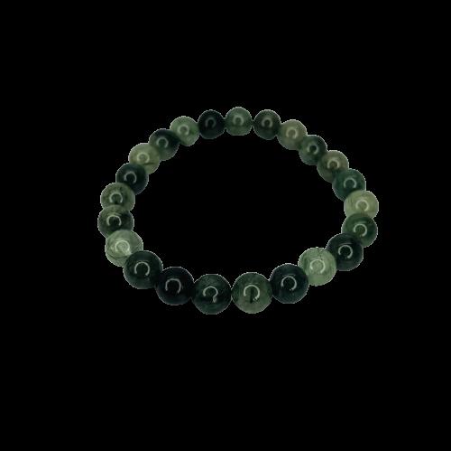 Tumbled Stone Bracelet | Green Rutile | 8mm-1
