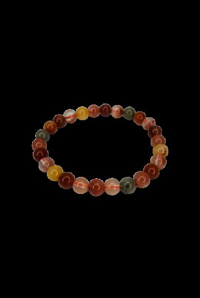 Tumbled Stone Bracelet | Multicolor Rutilated Quartz | 8mm