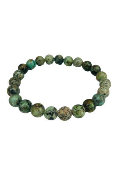 Tumbled Stone Bracelet | African Turquoise | 8mm