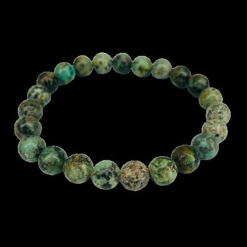 Tumbled Stone Bracelet | African Turquoise | 8mm-1