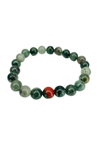 Tumbled Stone Bracelet | African Bloodstone | 8mm