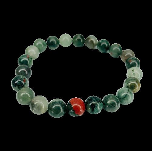 Tumbled Stone Bracelet | African Bloodstone | 8mm-1