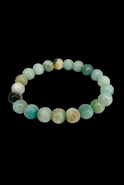 Tumbled Stone Bracelet | Amazonite | 8mm
