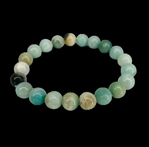 Tumbled Stone Bracelet | Amazonite | 8mm-1