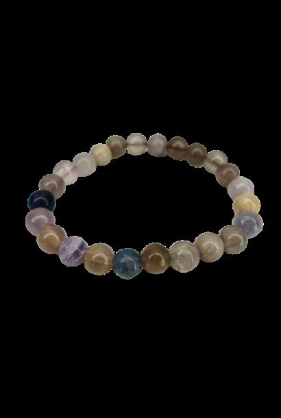 Tumbled Stone Bracelet | Rainbow Jasper | 8mm