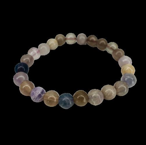 Tumbled Stone Bracelet | Rainbow Jasper | 8mm-1