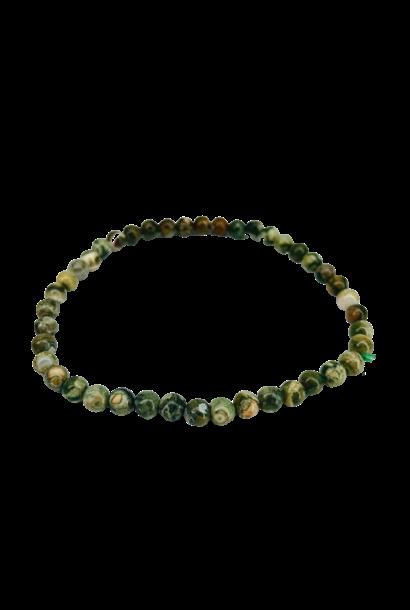 Tumbled Stone Bracelet | Rhyolite | 4mm