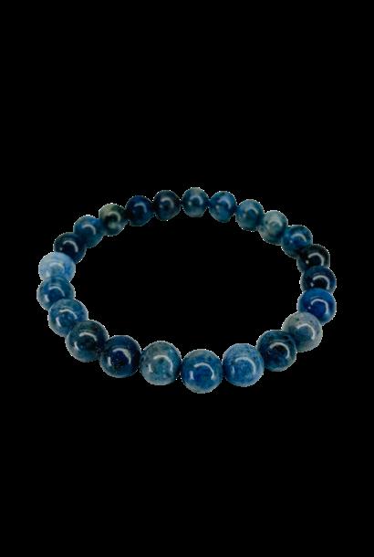 Tumbled Stone Bracelet | Blue Kyanite | 8mm