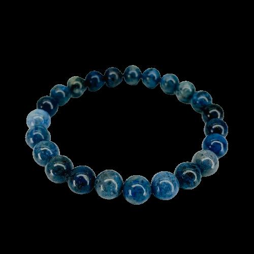 Tumbled Stone Bracelet | Blue Kyanite | 8mm-1