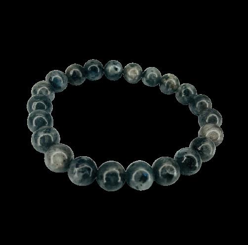 Tumbled Stone Bracelet | Larvakite | 8mm-2