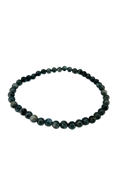 Tumbled Stone Bracelet | Larvakite | 4mm