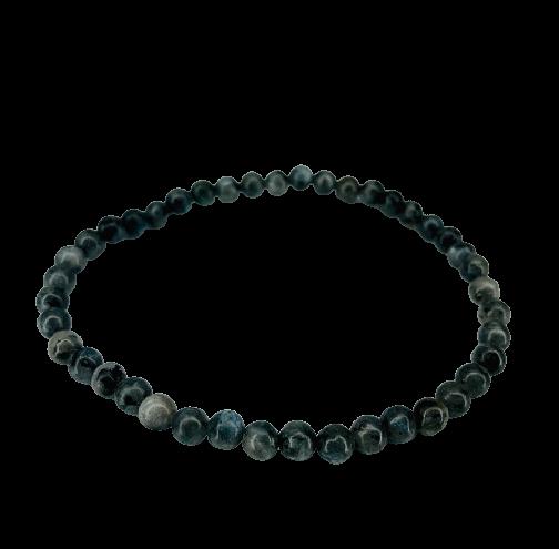 Tumbled Stone Bracelet | Larvakite | 4mm-1