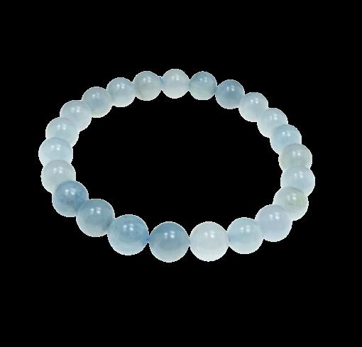 Tumbled Stone Bracelet | Aquamarine | 8mm-1