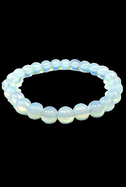 Tumbled Stone Bracelet | Opalite | 8mm