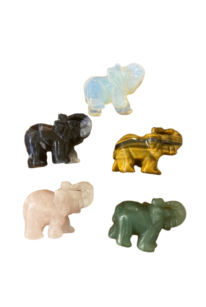 Crystal Elephant Figurine | Assorted Colors