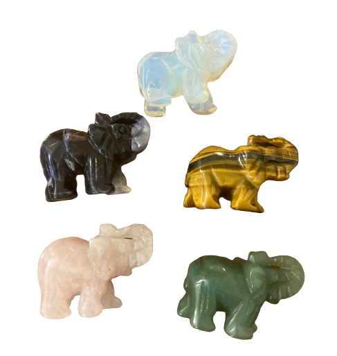 Crystal Elephant Figurine   Assorted Colors-1