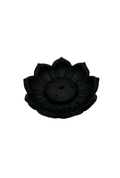 Incense Holder | Black Lotus Flower