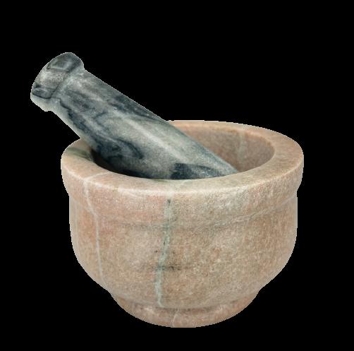 Mortar & Pestle   Pink Marble-1