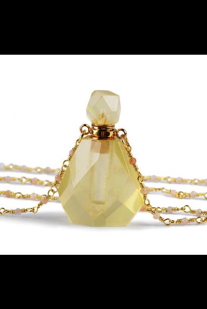 Crystal Perfume Necklace | Polished Citrine