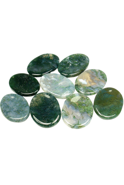 Worry Stone | Moss Agate