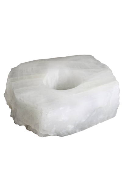 Candle Holder | Top Polished Clear Quartz