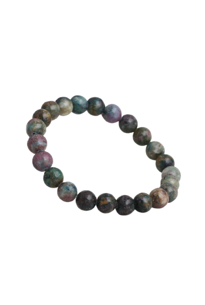 Tumbled Stone Bracelet | Ruby in Apatite | 8mm