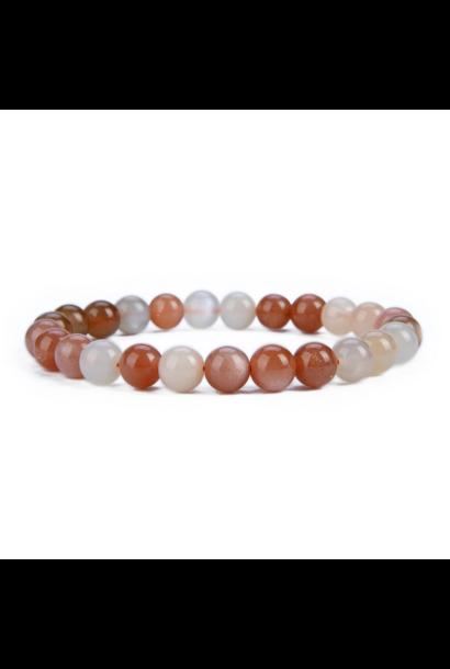 Tumbled Stone Bracelet | Multicolor Moonstone | 8mm