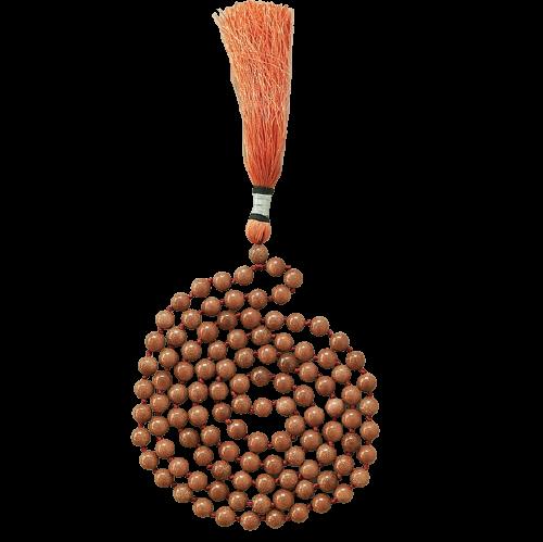 Mala Prayer Beads   Goldstone-1