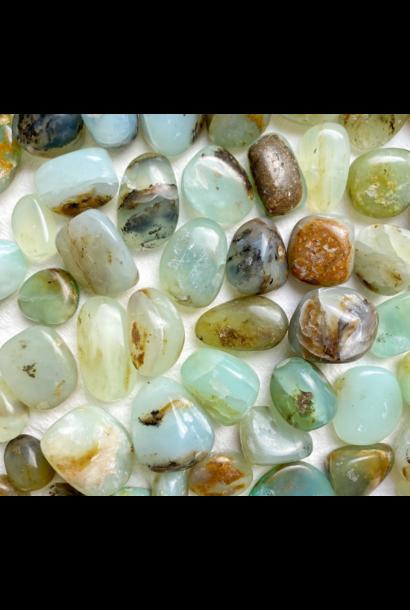 Tumbled Polished Stones | Blue Opal