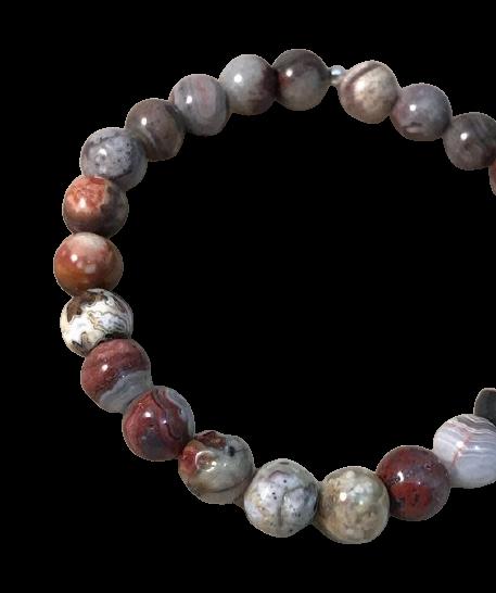 Tumbled Stone Bracelet | Luna Lace AgateTumbled Stone Bracelet | Charoite | 8mm-1