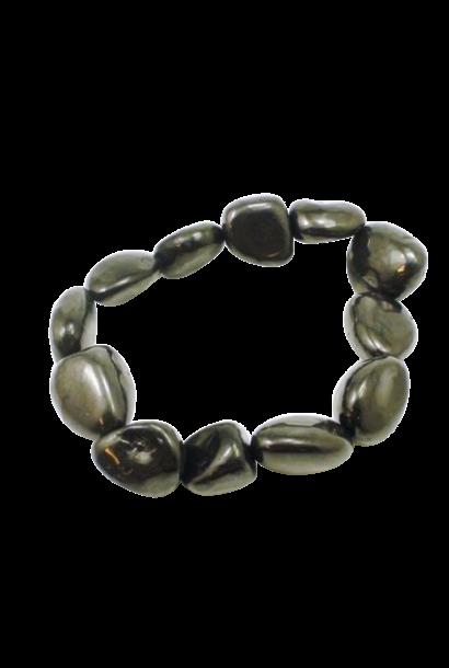 Tumbled Stone Bracelet | Noble Shungite | 8-10mm