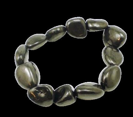 Tumbled Stone Bracelet | Noble Shungite | 8-10mm-1