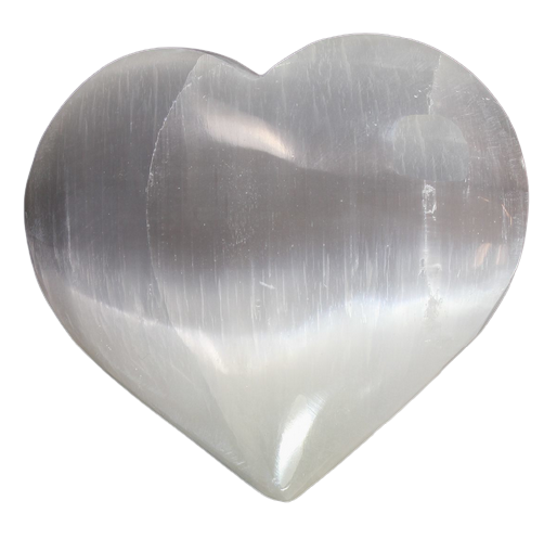 Selenite Heart | Large-2