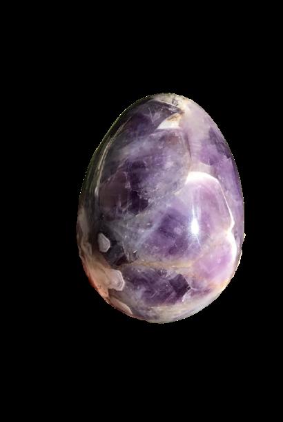 Crystal Egg   Chevron Amethyst