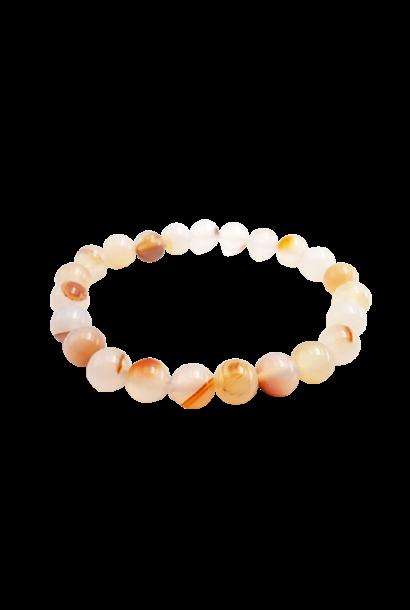 Tumbled Stone Bracelet | Dendric Agate | 8mm