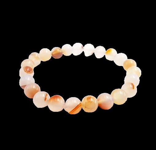 Tumbled Stone Bracelet | Dendric Agate | 8mm-1