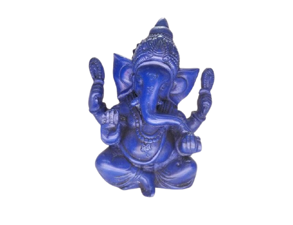 Resin Statue | Blue Blessing Ganesh-1