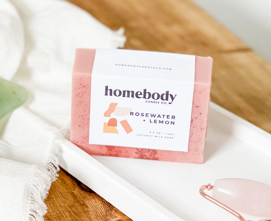 5177 - Soap - Rosewater + Lemon - Homebody Candle Co.-1