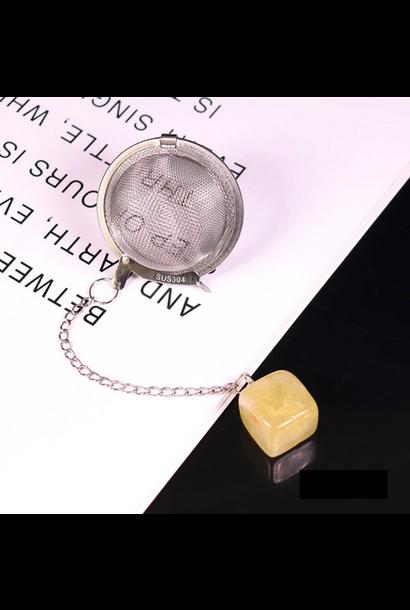 """5188 - Crystal Tea Ball - Tea Infuser - 2"""" - Assorted Crystals"""