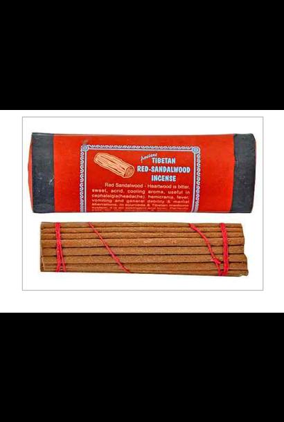 5192 - Incense - Red Sandalwood - Traditional Tibetan Incense - Natural - in cardboard tube - w/ holder
