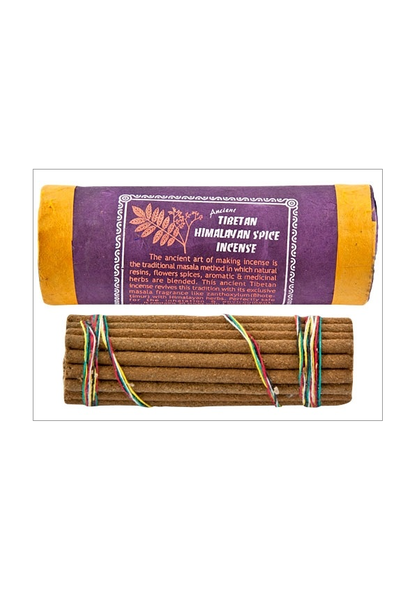 5193 - Incense - Himalayan Spice - Traditional Tibetan Incense - Natural - in cardboard tube - w/ holder