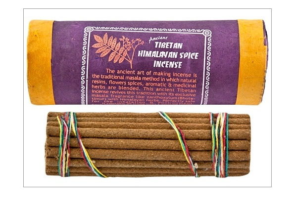 5193 - Incense - Himalayan Spice - Traditional Tibetan Incense - Natural - in cardboard tube - w/ holder-1