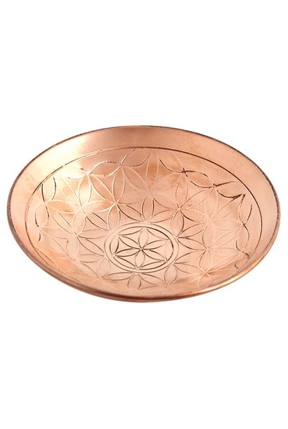 "5194 - Offering Bowl - Flower of Life - Copper - 6""D - .75""H"