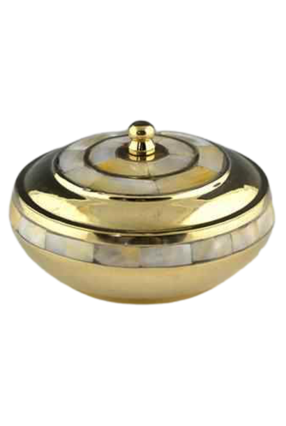 Resin Burner | Brass Dish w/ Mother of Pearl Lid