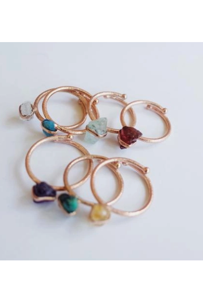 Raw Healing Stone Ring | Assorted Crystals